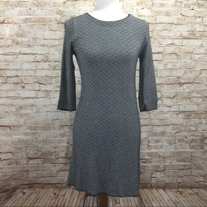 Zara Knit Sweater Dress Geometric Print Size Small